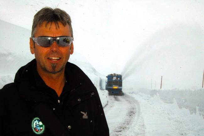 Peter Embacher, der Herr der Schneeräumung.