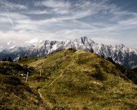 Blick auf die Leoganger Steinberge vom Gipfel der Sausteige aus