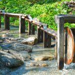 Das Wasserrad der Goldwaschanlage