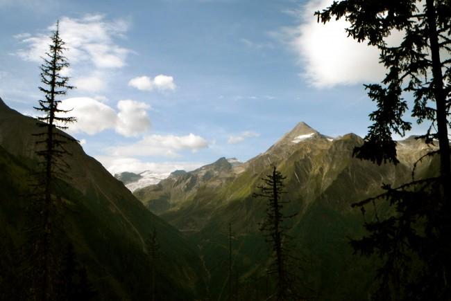 Aufstiegsfoto mit Blick auf das Kitzsteinhorn