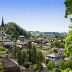 Blick auf das Ortszentrum vom Schlossberg
