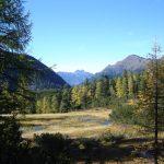 Gasteinertal Reedsee mit Blick Richtung Bernkogel im Herbst