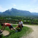 Sightrunning: Der Untersberg im Hintergrund