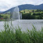 Wasserfontänen im Ritzensee