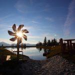 Der Barfußweg am Spiegelsee - beliebtes Ziel für jung und alt.