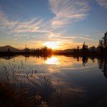 Sonnenuntergang am Dorfgasteiner Spiegelsee