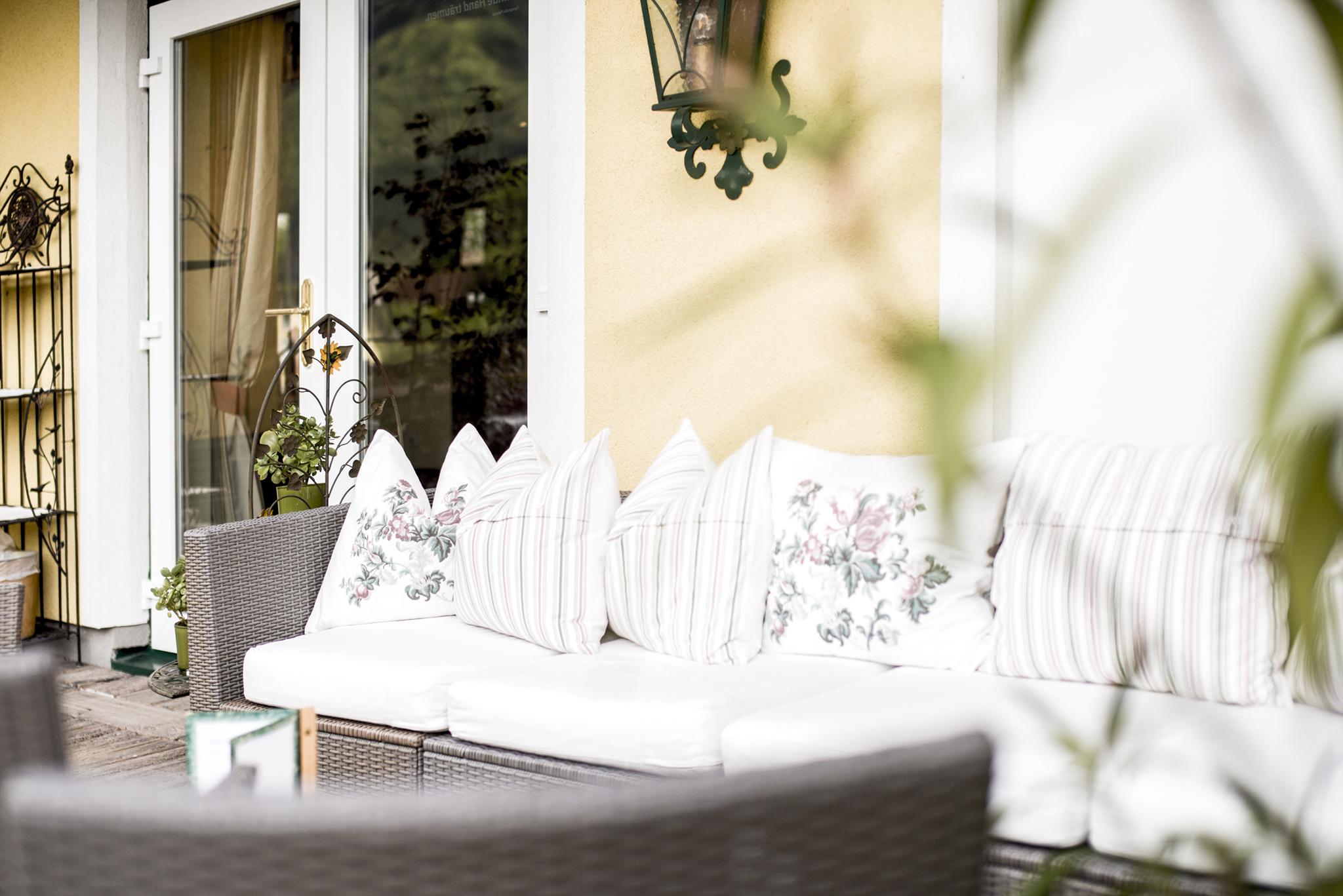 Rückzugsoase auf der Terrasse © Hotel Sonnleitn