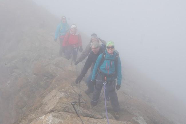 Im Nebel am Gipfelgrat. c EDanzer