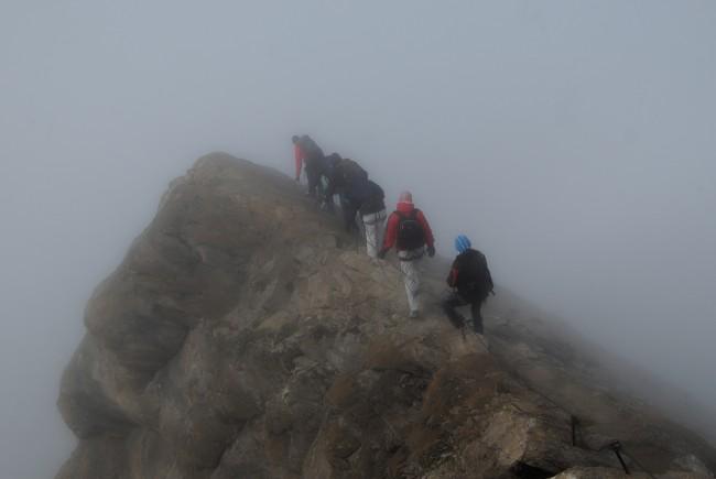 Der Abstieg über den Grat. c EDanzer