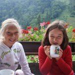 Warmer Tee aus frischen Kräutern