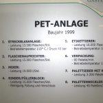Für PET-Flaschen gibt es eine eigene Abfüllanlage