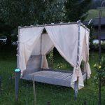 Unser noch leeres Garten-Bett