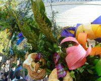 Palmbuschen mit bunten Spänen und Brezen ©Hammerl