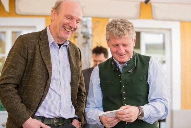 Josef Zotter und Erich Pletzer bei der Via Culinaria Wissensküche