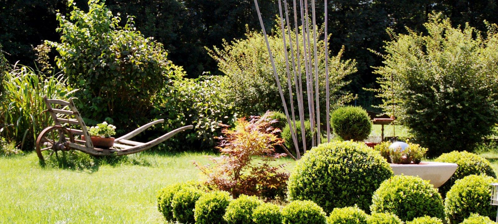 Das Essigmanngut verbindet Tradition und Moderne - vor allem im Garten.