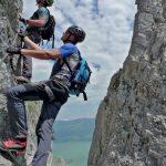 Pfeiler zum Mondesee Drachenwand-Klettersteig