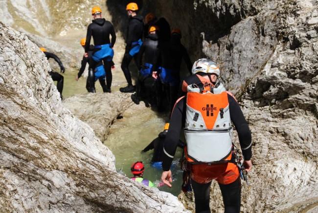 Klettergurt Canyoning : Sicherheit beim canyoning salzburgerland magazin
