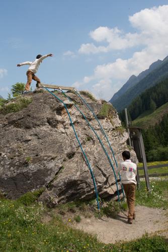 Kletterspass für die kleinen Teilnehmer der Tour.