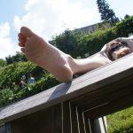 Füße hochlagern