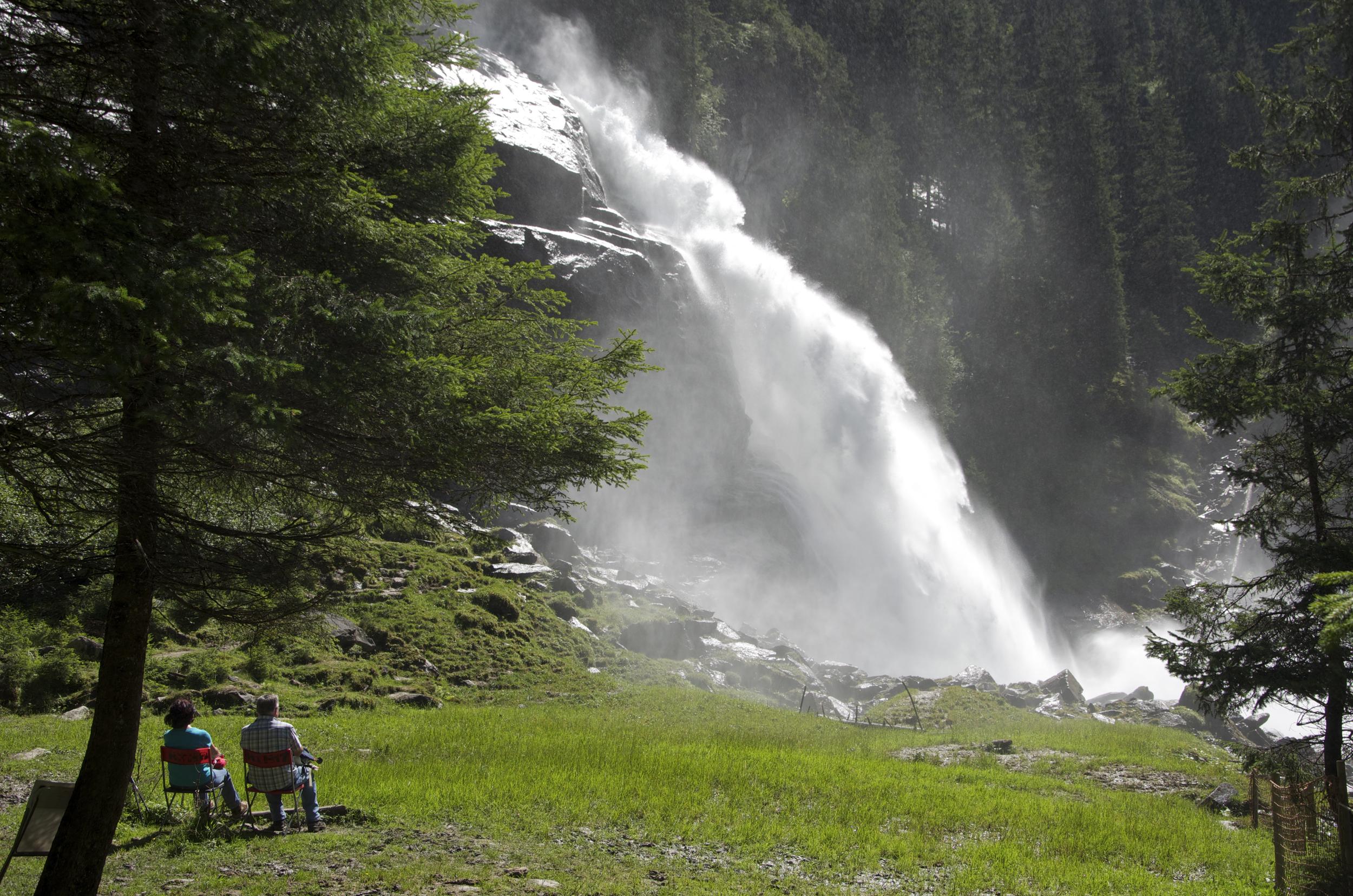 Die Krimmler Wasserfälle - eine beliebte Touristenattraktion und nachweislich heilsam für Asthmatiker. c Claus Muhr/Satel Film 2012
