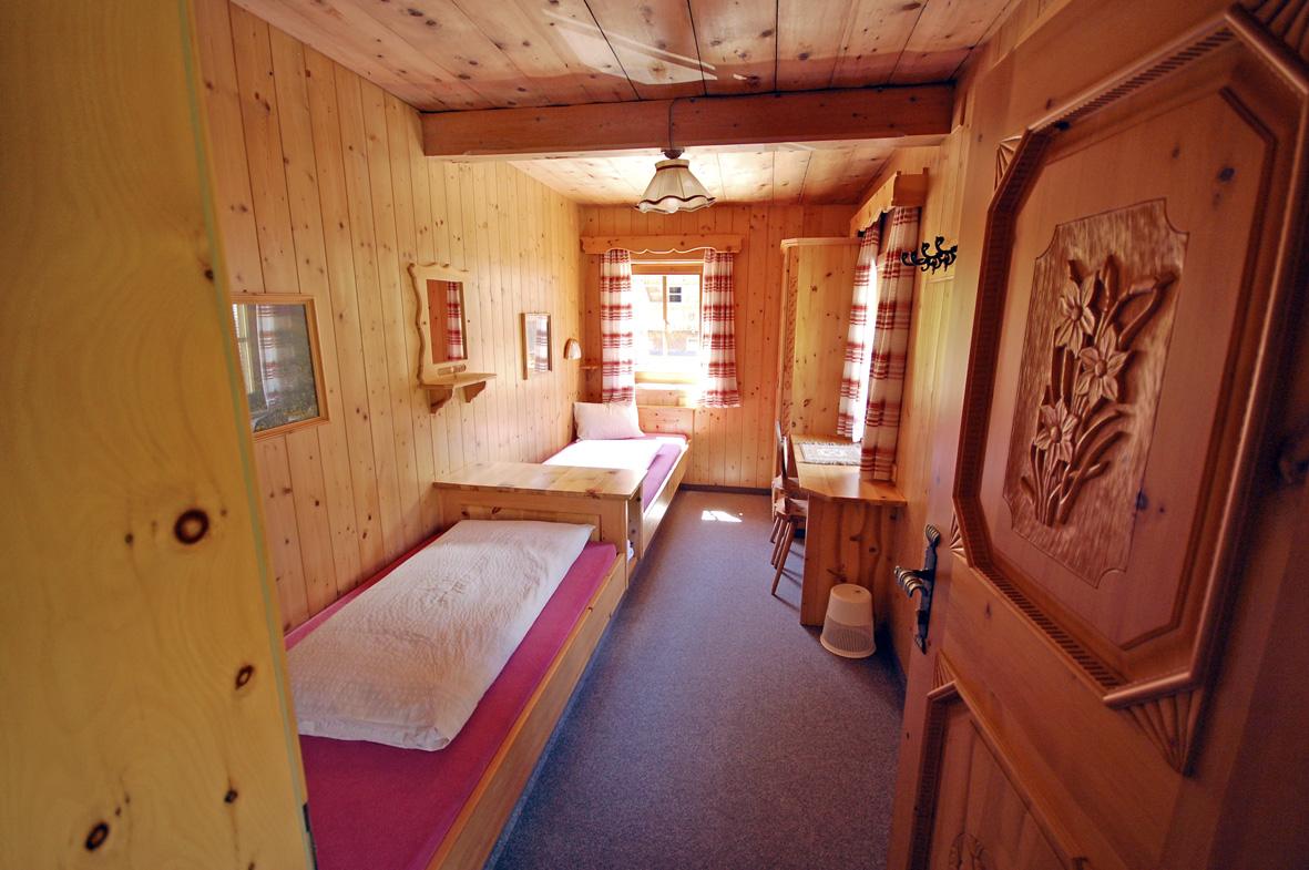 Rund 60 Schlafplätze stehen im Krimmler Tauernhaus in Zimmern oder Lager zur Verfügung. c Krimmler Tauernhaus