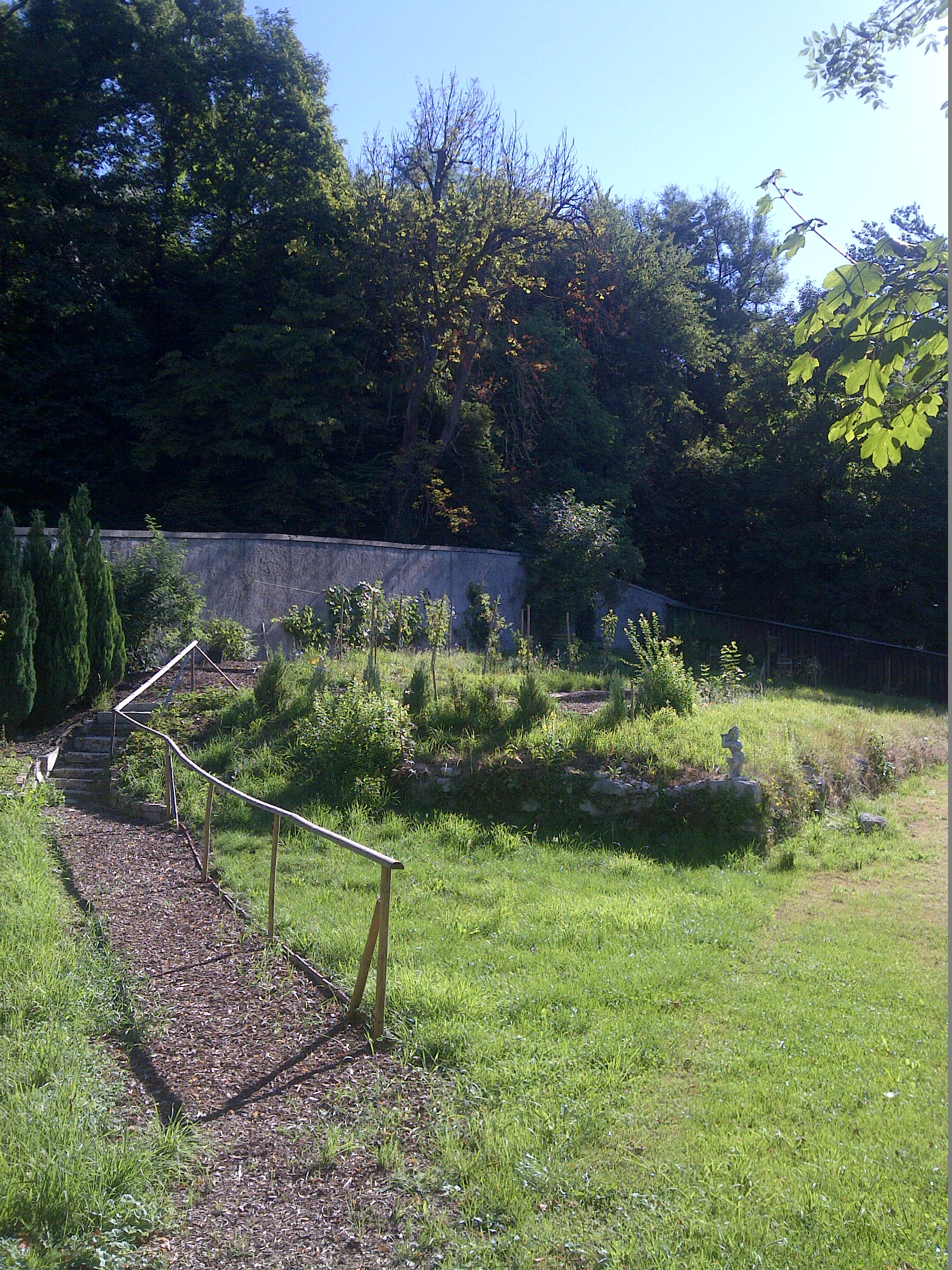 Diesen kleinen Meditationsgarten hat Kapuzinerbruder Norbert den Brennesseln entrissen.