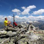 Gipfelsieg am Keeskogel - hier der Blick nach Osten zu Weinschnabel und Hafner