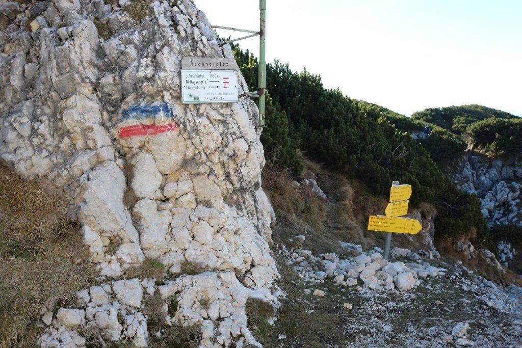 Beschilderung am Untersberg