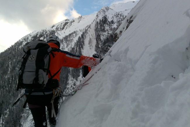 Schneemassen und Eis