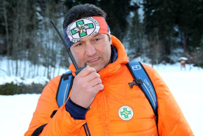 Ortsstellenleiter der Bergrettung Bad Gastein, Roland Pfund