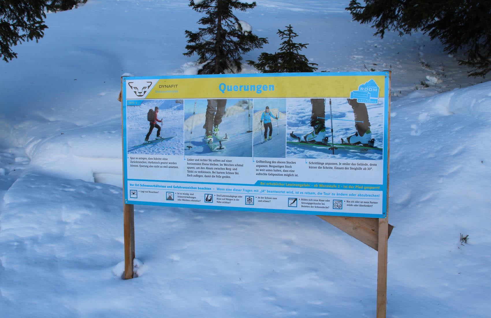 Skitourenlehrpfade helfen auch Anfängern dieser Sportart (Foto: Maria Riedler)