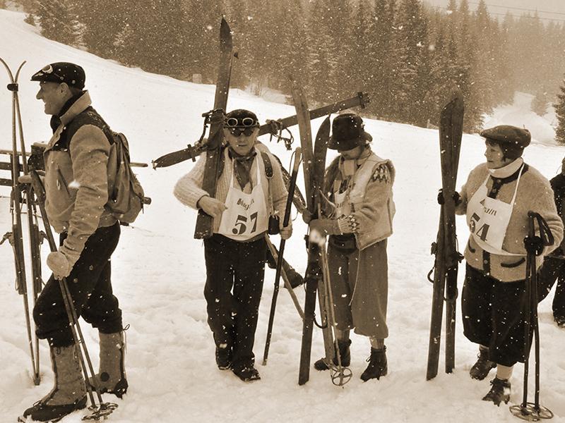 Skifahren wir es früher einmal war: Ski Nostalgie Wagrain.