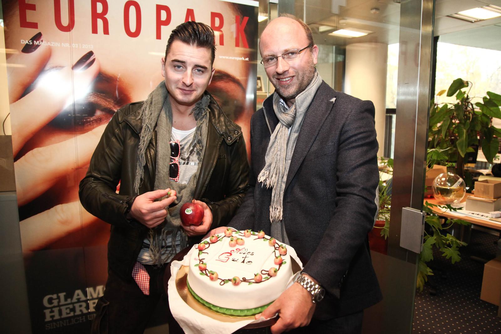 Stars präsentieren ihre CDs im Europark. Andreas Gabalier und  Christoph Andexlinger.