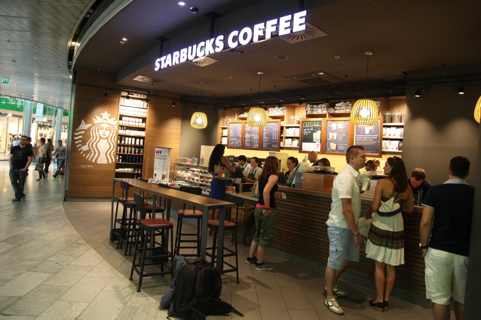 Starbucks ist erst seit kurzem im Europark