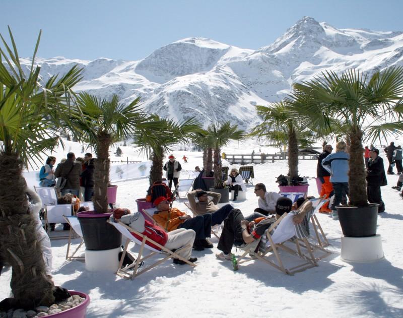 Chillen im Schnee und unter Palmen in Sportgastein.