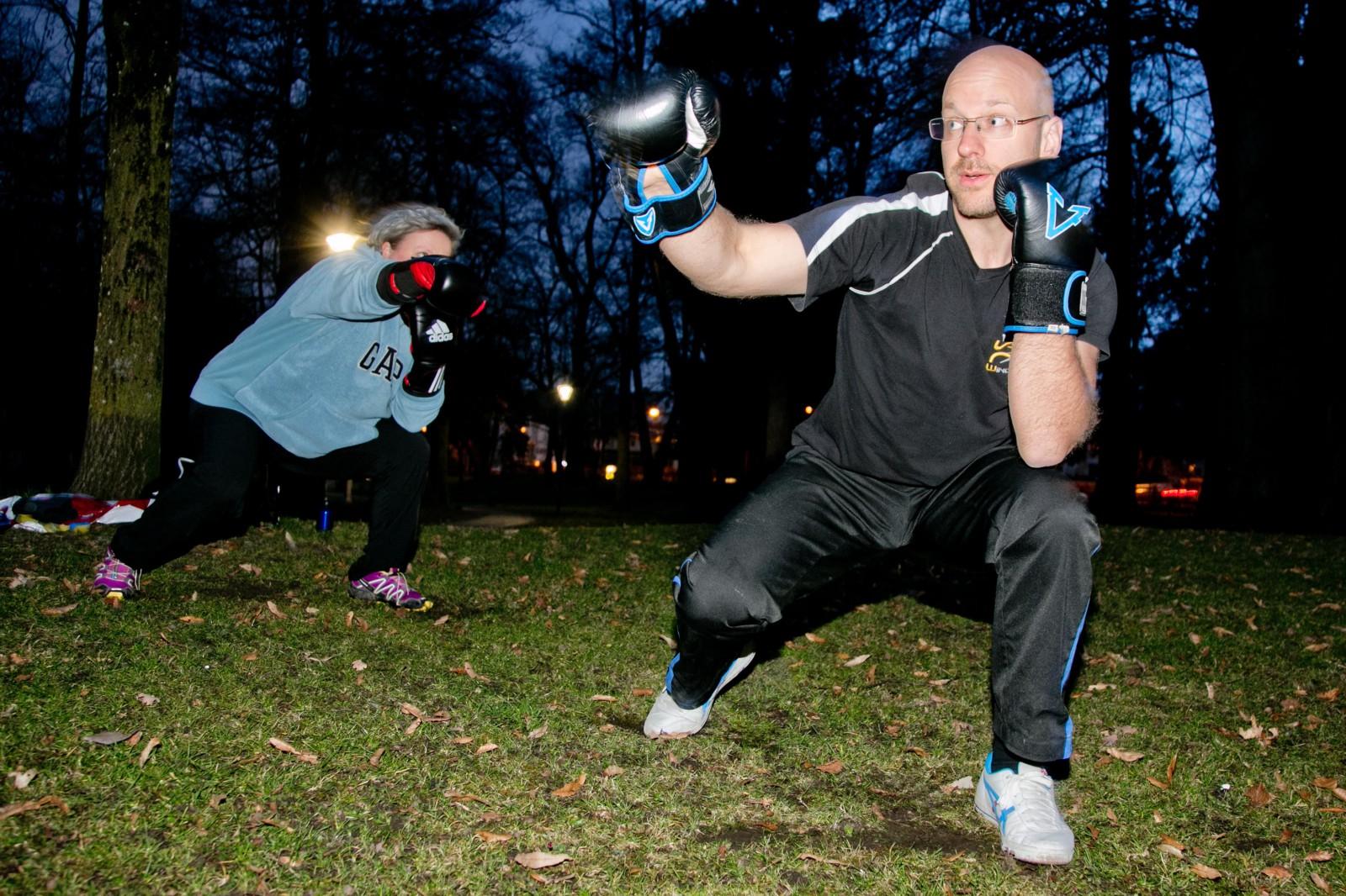 Frischluft -Trainer Herbert  in Action