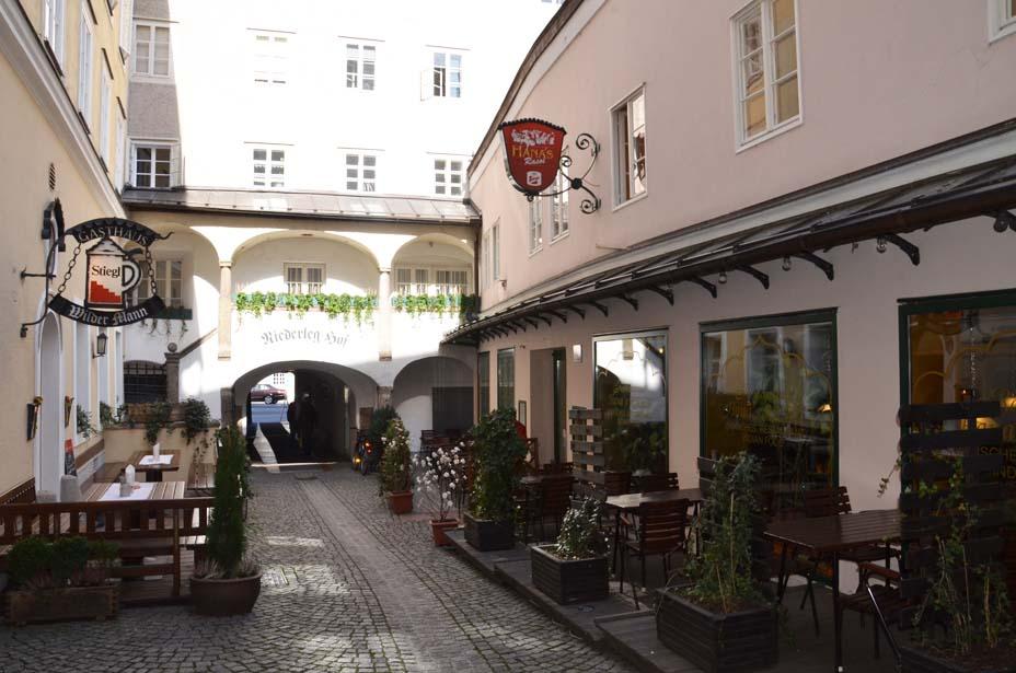 Niederleghof in der Salzburger Altstadt