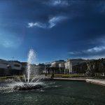 Die Große Fontäne im Zentrum des Mirabellgarten. © Zimtapfel