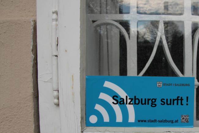 """""""Salzburg surft!"""" - hier gibt´s kostenfreie Hotspots."""