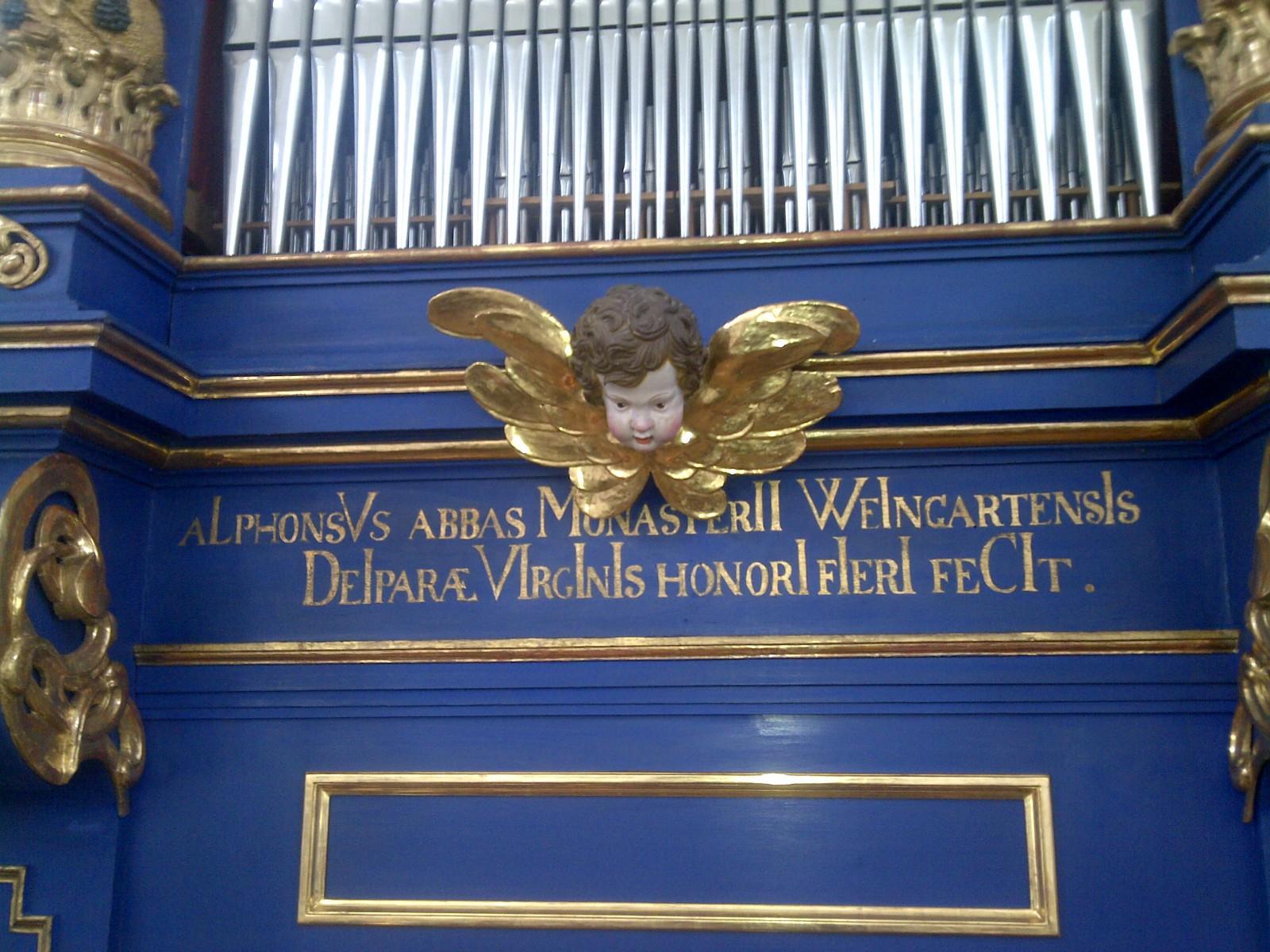 Das Gehäuse der Orgel in Maria Plain stammt aus dem 17. Jahrhundert