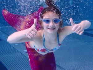 Kinder lieben Nixenschwimmen