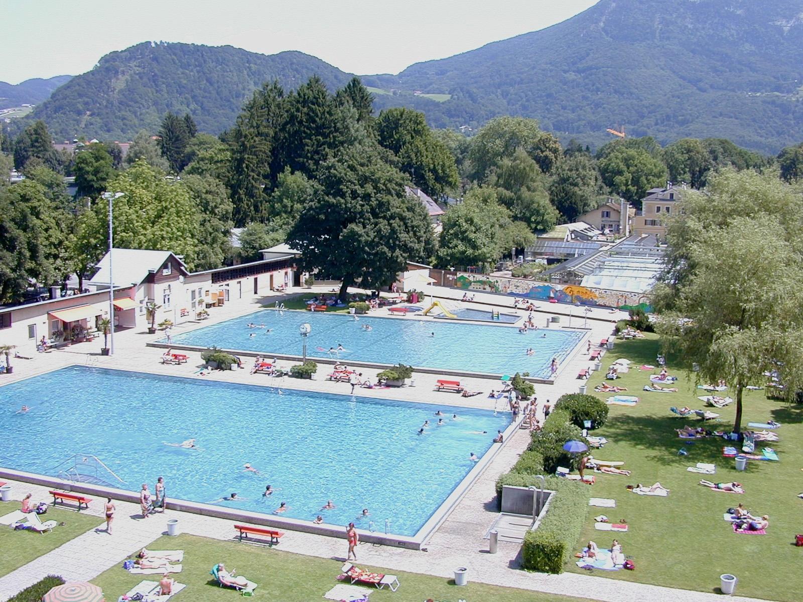 Schöne Aussicht: Das Volksgarten-Freibad, ebenfalls Salzburg.