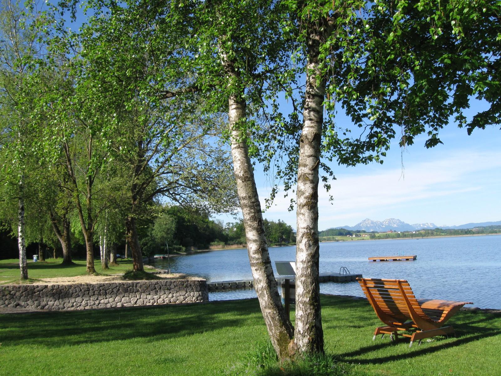 Malerisch: Das Seebad in Henndorf am Walllersee.