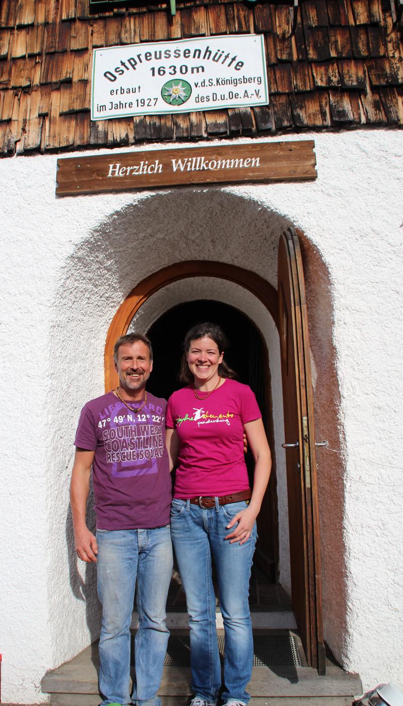Das Pächterpaar Babsi und Harald