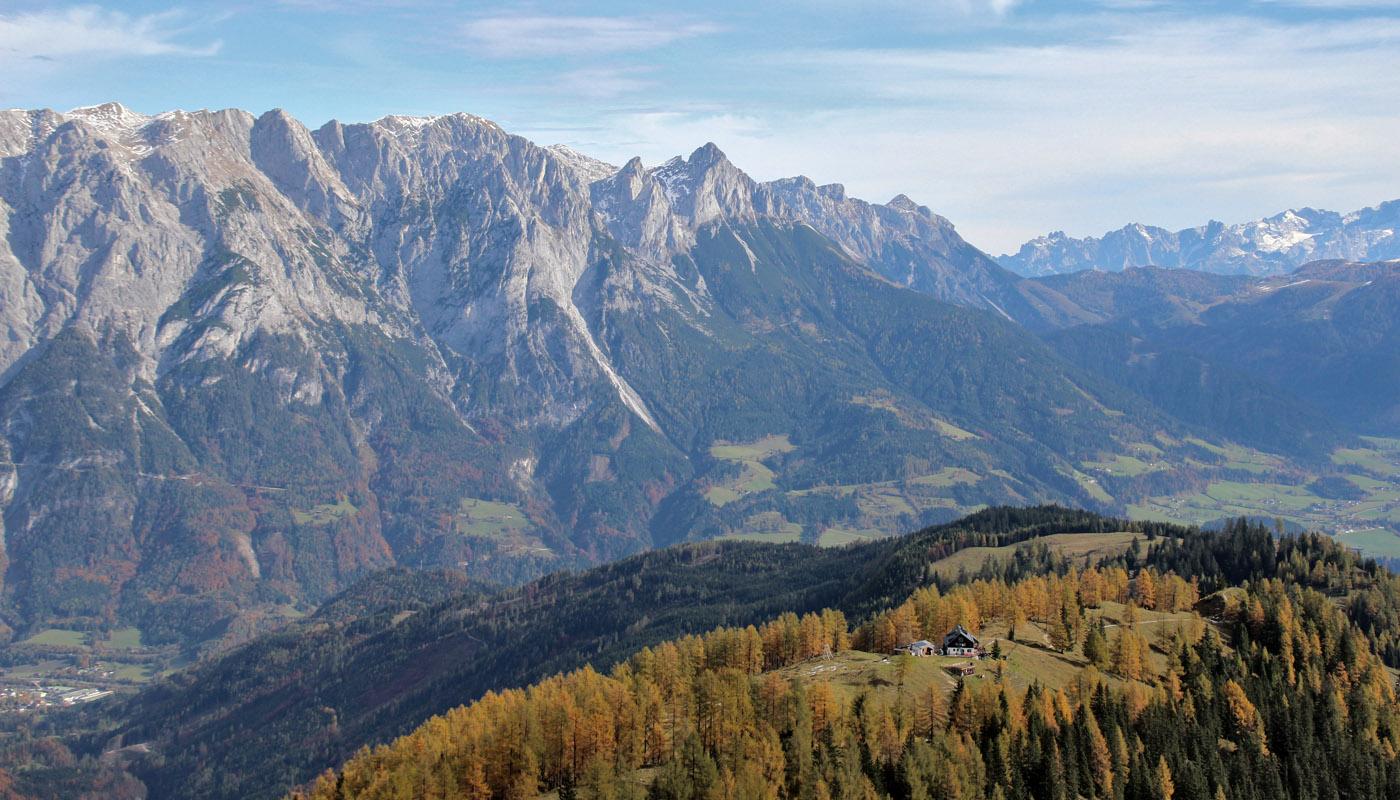 Aussicht zur Ostpreussenhütte von oben