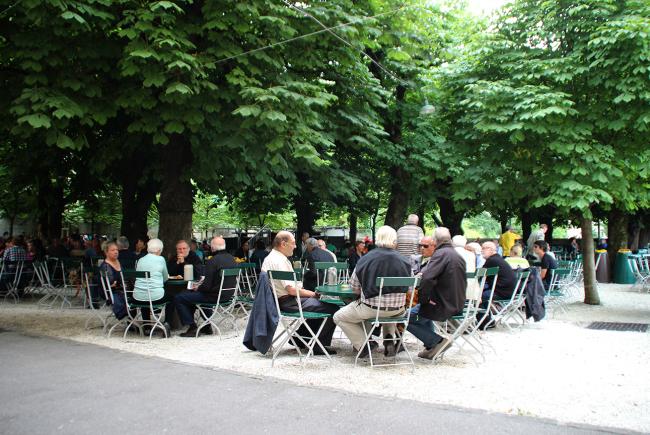 Hier lässt sich´s aushalten: der berühmte Gastgarten.