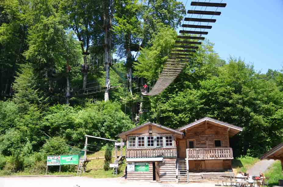 Abstecher: Hochseilgarten im Teufelsgraben