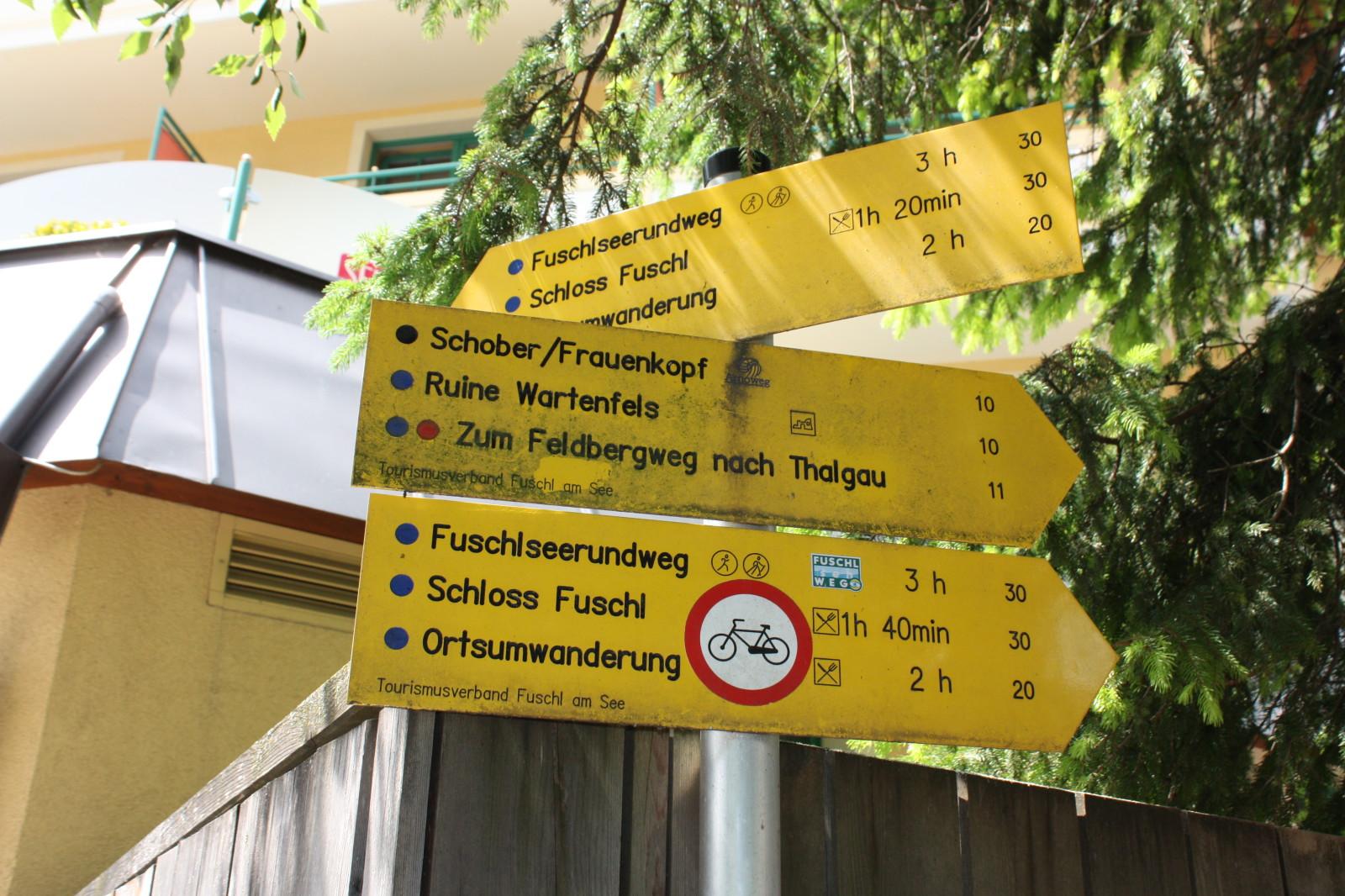 Diese Schilder lassen einen die ganze Route über nicht im Stich