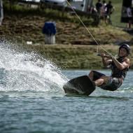 Nur am LOC-Wochenende kann man am Gerstreitteich wakeboarden. c Klaus Listl