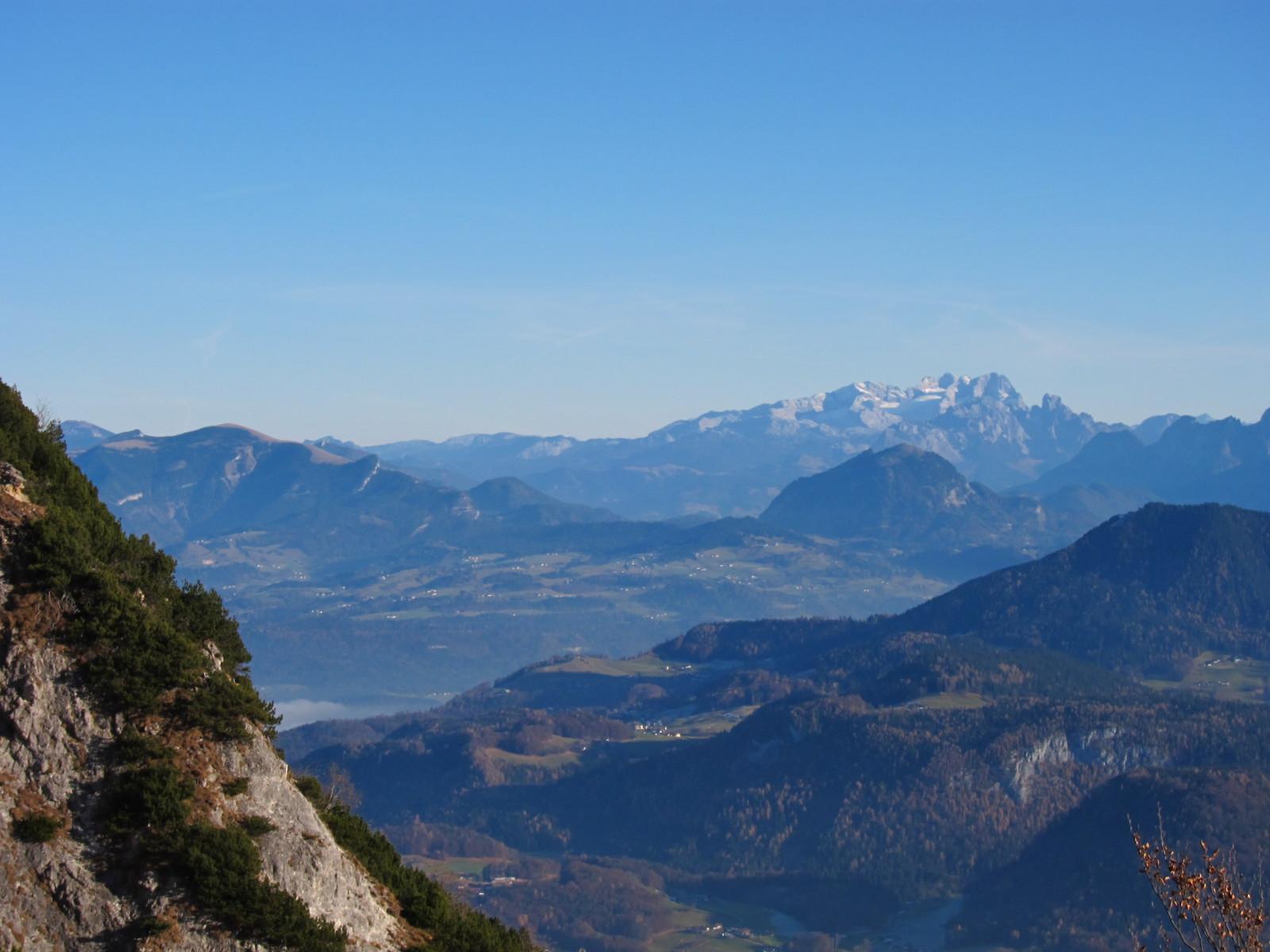 Blick vom Klettersteig aus